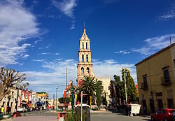 The parish church and main square of San Felipe.