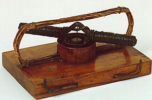 "Ányos Jedlik - Jedlik's ""lightning-magnetic self-rotor"", 1827 (the world's first electric motor)"