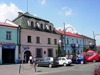 Jędrzejów Place in Świętokrzyskie, Poland