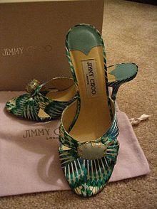 fb18c4cb072 A pair of green Jimmy Choo shoes