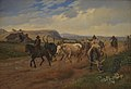 Johan Thomas Lundbye - A Drove of Oxen in the Roman Campagna - KMS510 - Statens Museum for Kunst.jpg