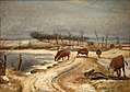 Johan Thomas Lundbye - Watering the Cattle on a Winter's Day - KMS2092 - Statens Museum for Kunst.jpg
