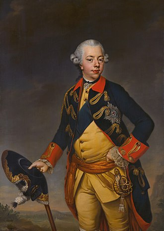 William V, Prince of Orange - Image: Johann Georg Ziesenis Willem V prins van Oranje Nassau c 1770