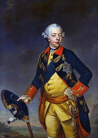 Affair of Fielding and Bylandt - William V, Prince of Orange, c. 1768-69