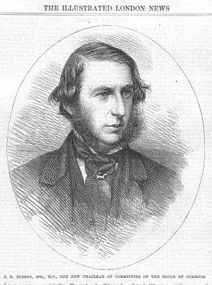 John George Dodson, 1st Baron Monk Bretton - Image: John George Dodson ILN
