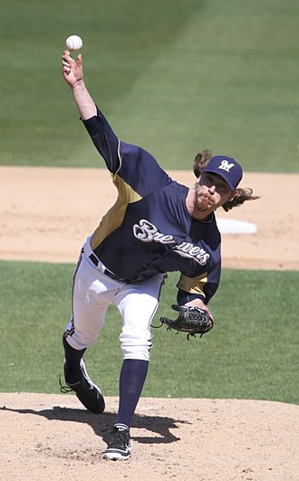 John Axford - Axford pitching for the Milwaukee Brewers in 2012 spring training