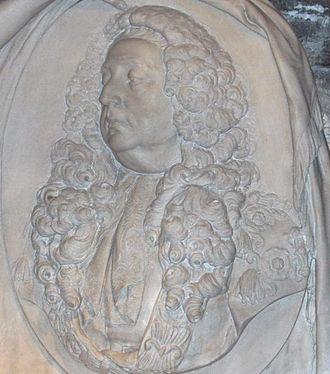 John Bowes, 1st Baron Bowes - Bust of John Bowes in the crypt of Christ Church Cathedral, Dublin, by John van Nost the younger.