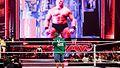 John Cena and Brock Lesnar at Raw, Miami, 2 April 2012 (7236556704).jpg