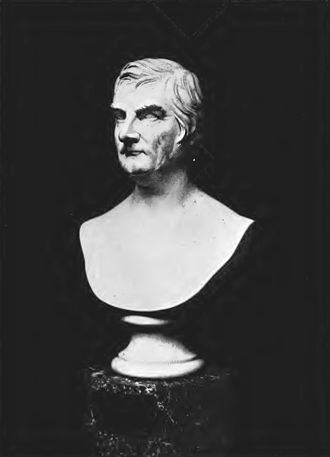 Astor Library - John Jacob Astor, a marble bust owned by the NYPL
