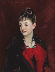 Portret van Mademoiselle Suzanne Poirson