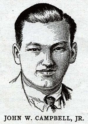 Analog Science Fiction and Fact - A sketch of John W. Campbell from 1932