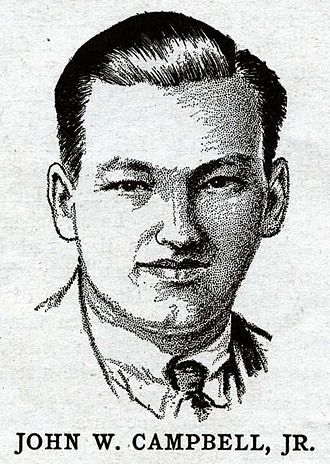 John W. Campbell - Campbell as depicted in the January 1932 issue of Wonder Stories