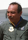 John Waihee of Hawaii visiting Hickam AFB, Sept 16, 1988.jpg