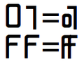 Joining hexadecimal digits in one character ligature.png