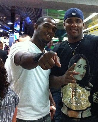Jon Jones - UFC youngest champion Jon Jones and basketball player Glen Davis in 2010