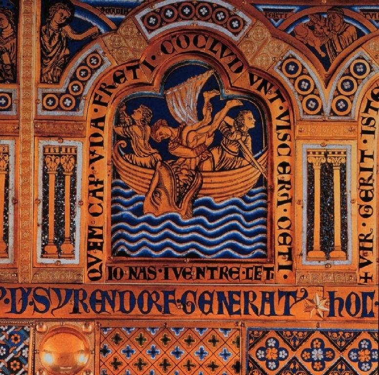 Jonah in the whale detail Verdun altar