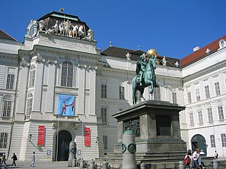 Austrian National Library - Court Library (Hofbibliothek) entrance at Josefsplatz