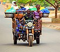 Joseph H Ahissou photo tricyle motorbike for food and human transportation Natitingou.jpg