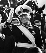 Juan Domingo Perón, tres veces presidente (1946-1952, 1952-1955 y 1973-1974)