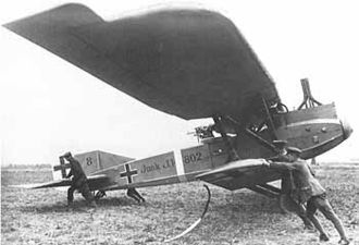 Close air support - The Junkers J.I, a First World War German ground-attack aircraft