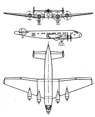 Junkers Ju 90 - Junkers Ju 90 3-view drawing from L'Aerophile October 1937