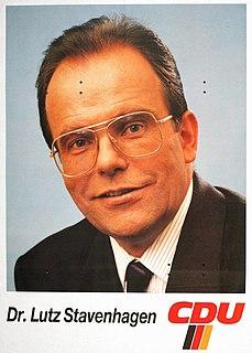 Lutz Stavenhagen German politician (1940-1992)