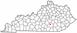 Location of Science Hill, Kentucky