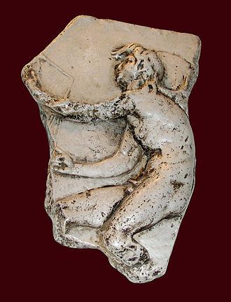 Kairos - Kairos relief, copy of Lysippos, in Trogir (Croatia)