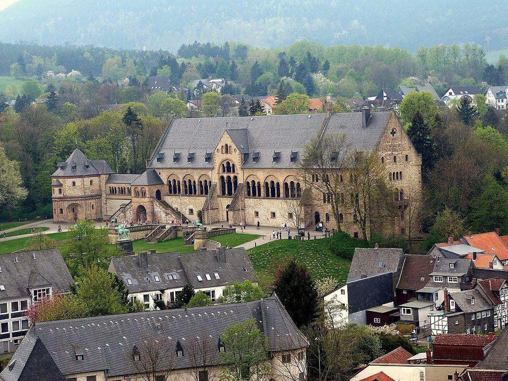 Kaiserpfalz Goslar vom Turm der Marktkirche St. Cosmas und Damian ausgesehen