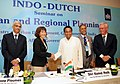Kamal Nath shaking hands with the Minister for International Trade and Development Cooperation, Govt. of Netherlands, Ms. Lilianne Ploumen, at the Indo-Dutch Seminar on Urban and Regional Planning.jpg