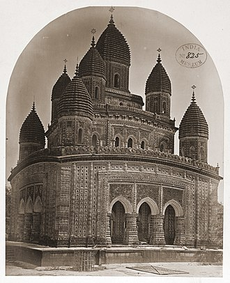 Kantajew Temple - A southern view of Kantojiu Temple in 1871 showing the nine spires that were subsequently destroyed in an earthquake