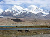 Peak Karl Marx and Friedrich Engels  Pamir mountains
