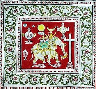 Kingdom of Kotte - A flag of the Catholic Karava Sinhalese who became Catholics during Kotte era
