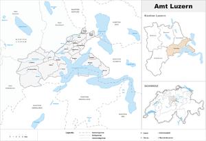 Lucerne District - Image: Karte Bezirk Luzern 2007