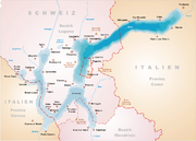 Karte Luganersee