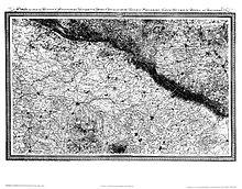 Hochauflösende Karte eines Teils von Ostwestfalen-Lippe, Le Coq, 1805 (Quelle: Wikimedia)