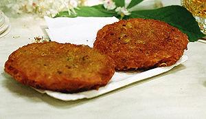 Fried bramboráky, potato pancakes