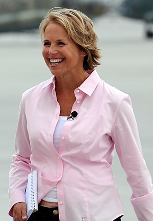 English: Katie Couric in Kabul, Afghanistan in...