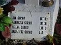 Kazimierz Sirko lat 2 yo Cemetery of Polish victims of the German Nazi massacre in Sochy from June 1, 1943 Sirko family plaque.jpg
