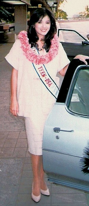 Kelly Hu - Kelly Hu as Miss Hawaii Teen USA 1985