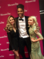 Kelvin Taylor with Anna Hutchison and Kimberly Crossman at the 2017 NZTV Awards in Auckland, New Zealand.png