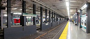 Kenmore (MBTA station) - Panorama on outbound platform