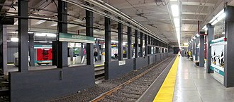 Kenmore station - Panorama on outbound platform