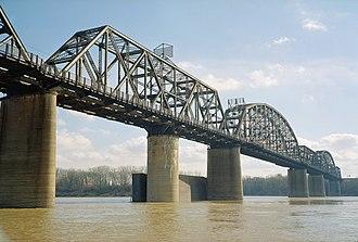 Kentucky & Indiana Terminal Bridge - The bridge seen from the Indiana side in 2006