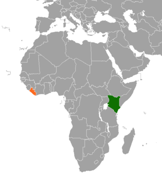 Diplomatic relations between the Republic of Kenya and the Republic of Liberia