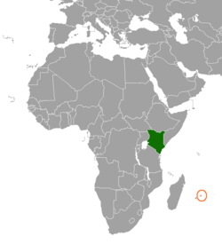 Kenyamauritius relations wikipedia map indicating locations of kenya and mauritius gumiabroncs Images
