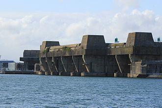 2nd U-boat Flotilla - U-boat pen Keroman I at Lorient.