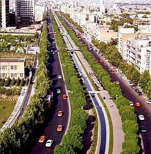 Boulevard - Keshavarz Boulevard of Tehran, Iran in mid 1970s