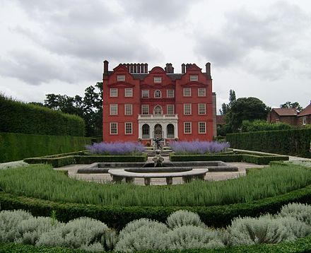 Rear view of Kew Palace from its gardens Kew Palace - Queen's Garden.jpeg