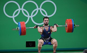 Clean and jerk - Cleaning by Kianoush Rostami at the 2016 Summer Olympics